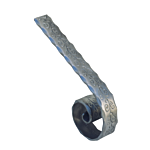 (C-124)INDTL 116/10 HANDRAIL END (TO MATCH 114/5)