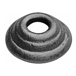 "(C-156) INDTL 1408/5 STEEL SHOE (1/2"" RD. HOLE)"