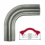 "MALLEABLE IRON ""CORNER BEND (2-1/4"" WIDE) (J.B. 4441-C)"