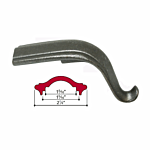 "MALLEABLE IRON TONGUE - 45 DEG (2-1/4"" W CAP) (J.B. 4441-B)"