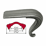 "MALLEABLE IRON TONGUE - 90 DEG (1-15/16"" W CAP) (J.B. 4428-S)"