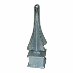 "**ZINC PLATED** #217 CAST IRON SPEAR - 3/4"" SQ HOLE"