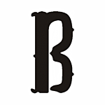 "B"" STEEL LETTER OLD ENGLISH STYLE-9 1/2"" HIGH"