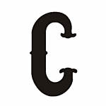 """C"""" STEEL LETTER OLD ENGLISH STYLE- 9 1/2"""" HIGH"""