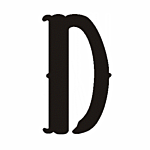 "D"" STEEL LETTER OLD ENGLISH STYLE-9 1/2"" HIGH"