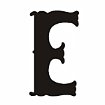 "E"" STEEL LETTER OLD ENGLISH STYLE-9 1/2"" HIGH"