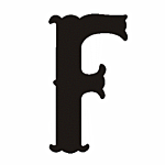 "F"" STEEL LETTER OLD ENGLISH STYLE-9 1/2"" HIGH"