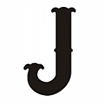 "J"" STEEL LETTER OLD ENGLISH STYLE-9 1/2"" HIGH"