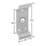 CAL-ROYAL OUTSIDE TRIM/CYL. FOR 2200/9800EO PANIC EXIT (SILVER FINISH)