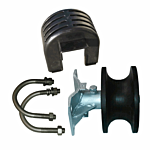 """CANTILEVER (PLASTIC) ROLLER (2-3/8"""" ROUND TRACK/4"""" ROUND POST MOUNT) INCLUDES COVER & HARDWARE"""