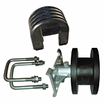 """CANTILEVER (PLASTIC) ROLLER (2"""" SQUARE TRACK/4"""" SQUARE POST MOUNT) INCLUDES COVER & HARDWARE"""