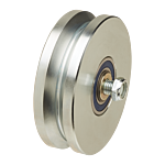"""HEAT TREATED POWER V-GROOVE WHEEL  ASSY. (4"""" X 1-3/4"""") **SILVER* (HT3000V) - SELL BY THE EACH"""