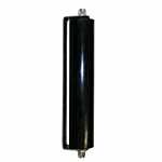 "**RUBBER** (12"" X 2-3/8"" DIA) BLACK GUIDE ROLLER ASSY. (10/CASE)"