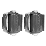 "PR(S) GUARDIAN ""HVY DUTY ROUND MOUNT"" BEARING HINGE ""ZINC PLATED"" (2010Z)"