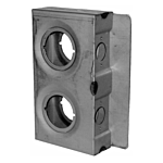 "ECONOMY 2"" W DBL HOLE LOCK BOX 2-3/4"" BS (W/INDENT 1-3/4"" W) (14/CASE)"