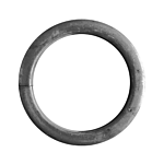 "ECONOMY STEEL RING - 3-1/2 ***(1/2"" SQ. TUBE X 18 GA.)** * (100/BAG)"