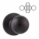 "SAFELOCK KWIKSET ""PASSAGE"" KNOB US 11P (VENETIAN BRONZE) ""REGINA"" LIST - 16.70"