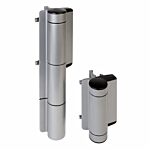 """PR(S) LOCINOX MAMMOTH - """"HEAVY DUTY""""GATE CLOSER AND HINGE,GATES UP TO 440 LBS """"180""""DEGREE (SILVER)"""