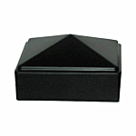 "PLASTIC POST CAP - 1-1/2"" SQ (BLACK) (19-806)"