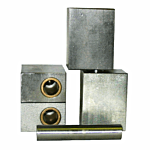 PR(S) ELITE RECTANGULAR HINGE 1/2 STEEL & 1/2 ALUMINUM