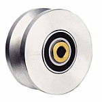 "HEAT TREATED POWER V-GROOVE WHEEL  ASSY. (4"" X 1-3/4"") **SILVER* (HT3000V) - SELL BY THE EACH"