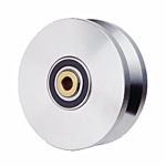 "HEAT TREATED POWER V-GROOVE WHEEL ASSY. (6"" X 1-3/4"")**SILVER** (HT5000V) - SELL BY THE EACH"