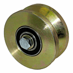 "COLD ROLLED POWER V-GROOVE WHEEL ASSY. (4"" X 1-3/4"") ***GOLD** (AH107) - SELL BY THE EACH"