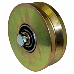 "COLD ROLLED POWER V-GROOVE WHEEL  ASSY. (6"" X 1-3/4"") ***GOLD** (AH110) - SELL BY THE EACH"