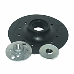 """RUBBER BACK UP PAD- 4"""" W/10 MM LOCK NUT (SPIRAL) (BP0410S)"""