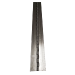 """STEEL CONTINUOUS HINGE (EA) 2.00"""""""" OPEN WIDTH X 72"""""""" L MTL THICKNESS: .060"""