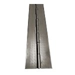 """STEEL CONTINUOUS HINGE (EA) 4.00"""""""" OPEN WIDTH X 72"""""""" L MTL THICKNESS: .120"""
