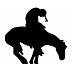 """SILHOUETTE #105-4"""" """"INDIAN ON HORSE"""" FLAME CUT"""