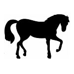 """SILHOUETTE #110-4"""" """"STANDING HORSE"""" FLAME CUT"""