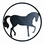 """SILHOUETTE #110-18"""" """"STANDING HORSE"""" FLAME CUT"""