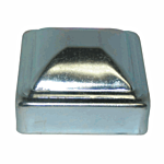 ***ZINC PLATED***PRESSED STEEL POST CAP - 2-1/2 (200/BOX)