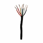 """18 AWG (SOLID) WIRE - 7 CONDUCTOR - BROWN PVC JACKET """"STIFF"""" (SOLD BY THE FOOT)"""